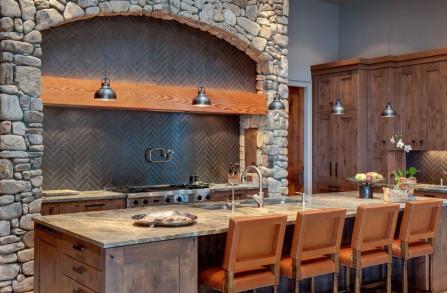 Rustic Kitchen Backsplashes Luxury Kitchen Backsplashes Dazzle with their Herringbone Designs