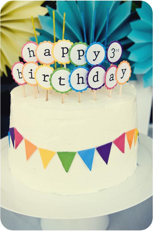 Simple Birthday Cake  Kara s Party Ideas DIY Summer Rainbow Party full of ideas