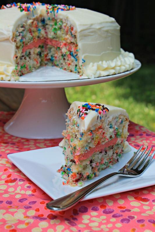 Simple Birthday Cake Beautiful Easy Funfetti Layered Birthday Cake Carolina Charm
