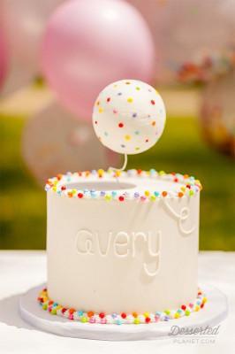 Simple Birthday Cake  A simple but cute smash cake