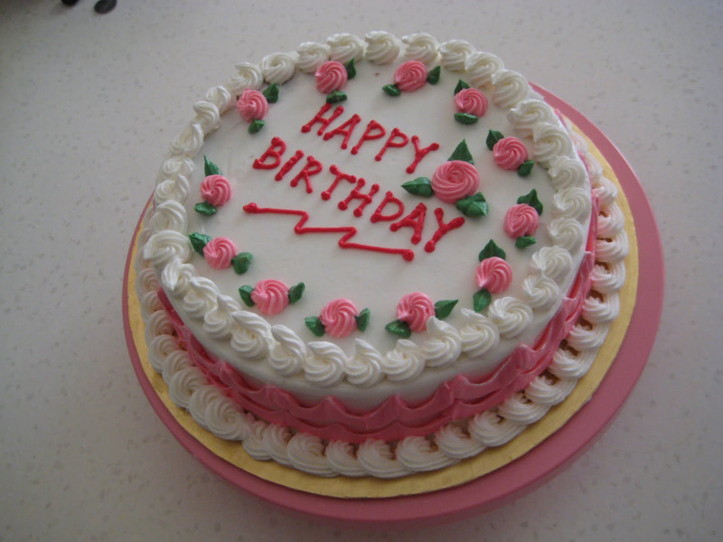 Simple Birthday Cake  SIMPLE BIRTHDAY CAKE