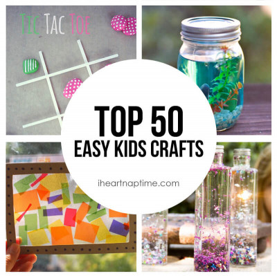 Simple Crafts For Kids  50 Fun & Easy Kids Crafts I Heart Nap Time