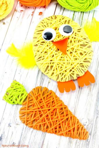 Simple Crafts For Kids  Easy Easter Crafts for Kids Yarn Crafts for Kids