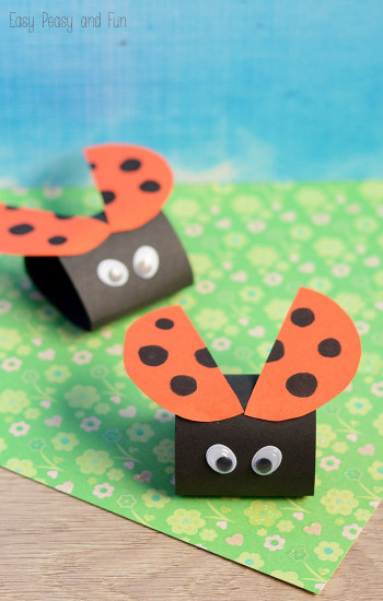 Simple Crafts For Kids  Simple Ladybug Paper Craft Easy Peasy and Fun