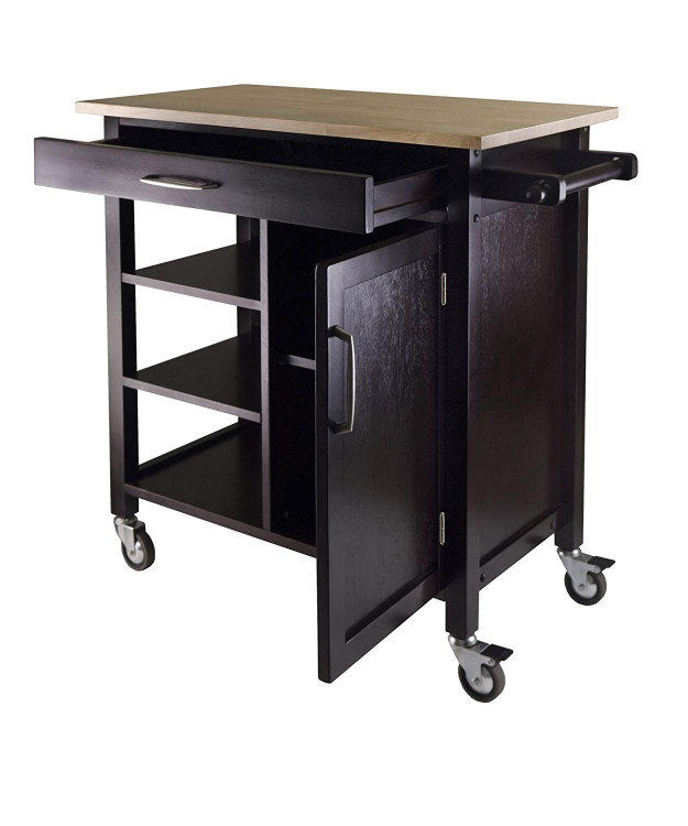 Small Kitchen Cart  Small Kitchen Cart With Drop Leaf
