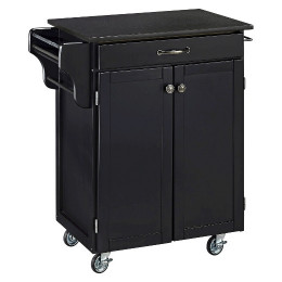 Small Kitchen Cart  Small Kitchen Cart with Granite Top Wood Black Home