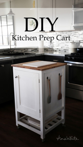Small Kitchen Cart  Ana White