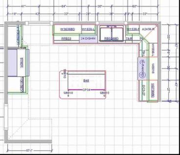 Small Kitchen Floor Plans  15X15 Kitchen Layout with Island