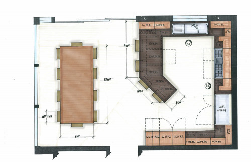 Small Kitchen Floor Plans  Floor plan