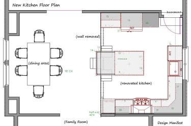 Small Kitchen Floor Plans  Havertown Kitchen Floor Plan Design Manifest House Plans