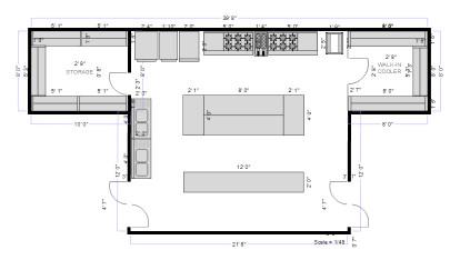 Small Kitchen Floor Plans  Restaurant Floor Plan Maker