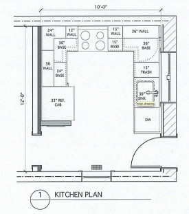 Small Kitchen Floor Plans  Small U Shaped Kitchen with Island and Table bined