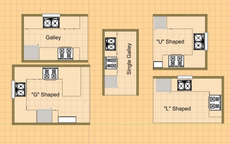 Small Kitchen Floor Plans  Detailed All Type Kitchen Floor Plans Review Small