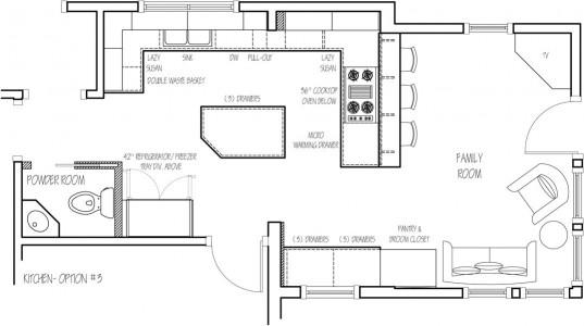 Small Kitchen Floor Plans  kitchen floor plans