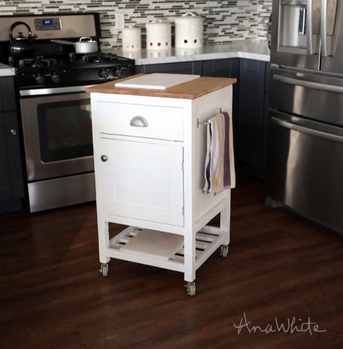 Small Kitchen island Cart Elegant Ana White