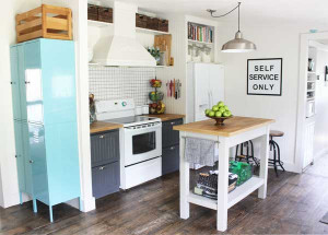 Small Kitchen Makeovers  Creating a pantry when you don t have one
