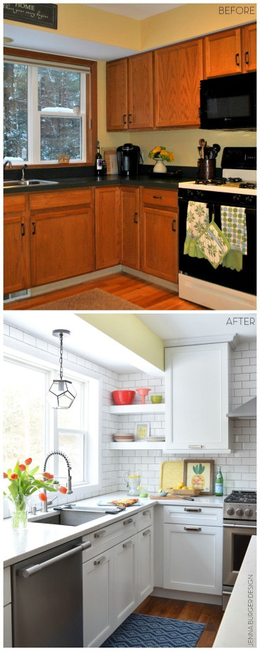 Small Kitchen Makeovers  Best 25 Small kitchen makeovers ideas on Pinterest