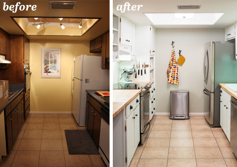 Small Kitchen Remodel Before And After  Galley Kitchen Remodel Before and After a Bud