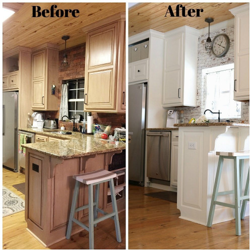Small Kitchen Remodel Before And After  Kitchen Makeover Before After