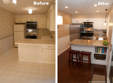 Small Kitchen Remodel Before And After  Beautiful Kitchen Remodel A Bud Before and After
