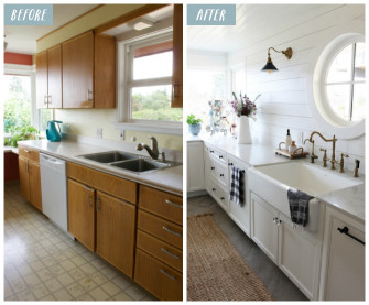 Small Kitchen Remodel Before And After  Small Kitchen Remodel Reveal The Inspired Room
