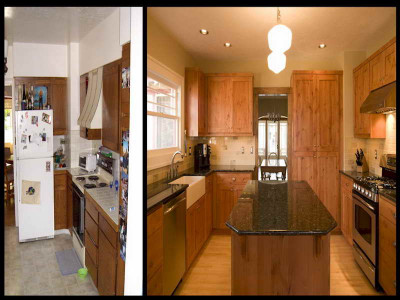 Small Kitchen Remodel Before And After  Before & After Small Kitchen Remodels