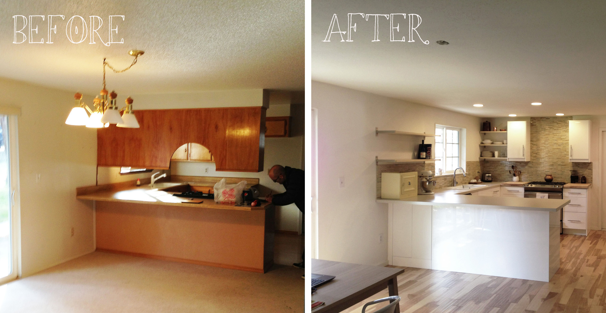 Small Kitchen Remodel Before And After  Small Kitchen Remodel Before and After for Stunning and
