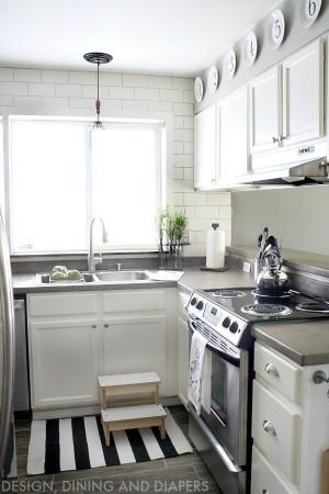Small Kitchen Remodels  Small Kitchen Remodel With A Modern Farmhouse Style