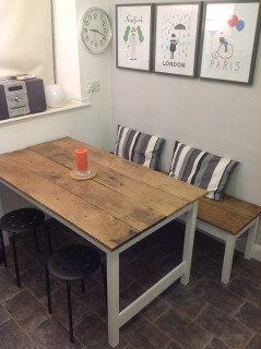 Small Kitchen Table  Kitchen table and bench Contemporary Dining Tables