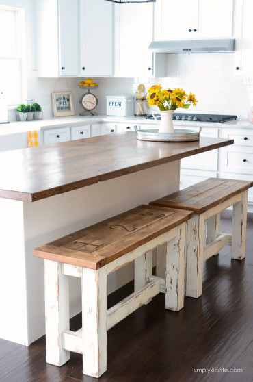 Small Kitchen Table With Bench  DIY Kitchen Benches Simply Kierste Design Co