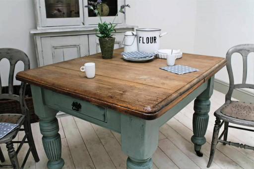 Small Kitchen Table With Bench  Small farm table benches made from reclaimed wood