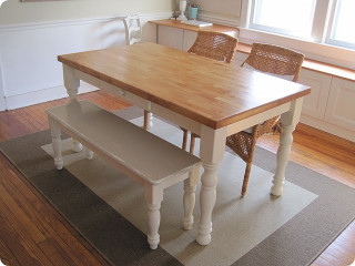 Small Kitchen Table With Bench  Norfolk Dining Table & Bench
