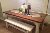 Small Kitchen Table with Benches Elegant Rustic Nail Farm Style Kitchen Table and Benches to Match