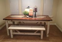 Small Kitchen Table with Benches Luxury Rustic Nail Farm Style Kitchen Table and Benches to Match