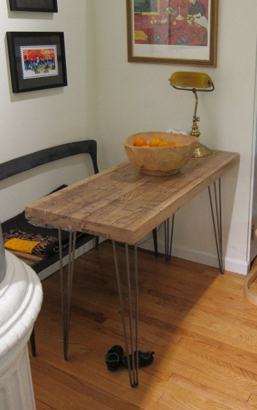 Small Kitchen Tables Beautiful Small Kitchen Table Reclaimed Oak Hairpin Legs