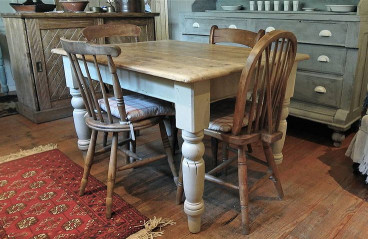 Small Kitchen Tables With Bench  Pine Farmhouse Kitchen Table