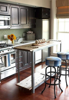 Small Kitchen with island Beautiful 21 Space Saving Kitchen island Alternatives for Small Kitchens