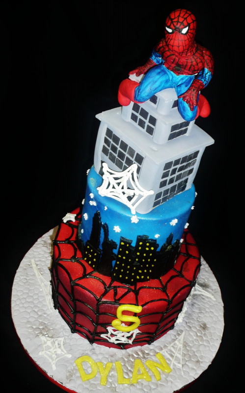 Spiderman Birthday Cake  Baking with Roxana s Cakes Spiderman Birthday Cake