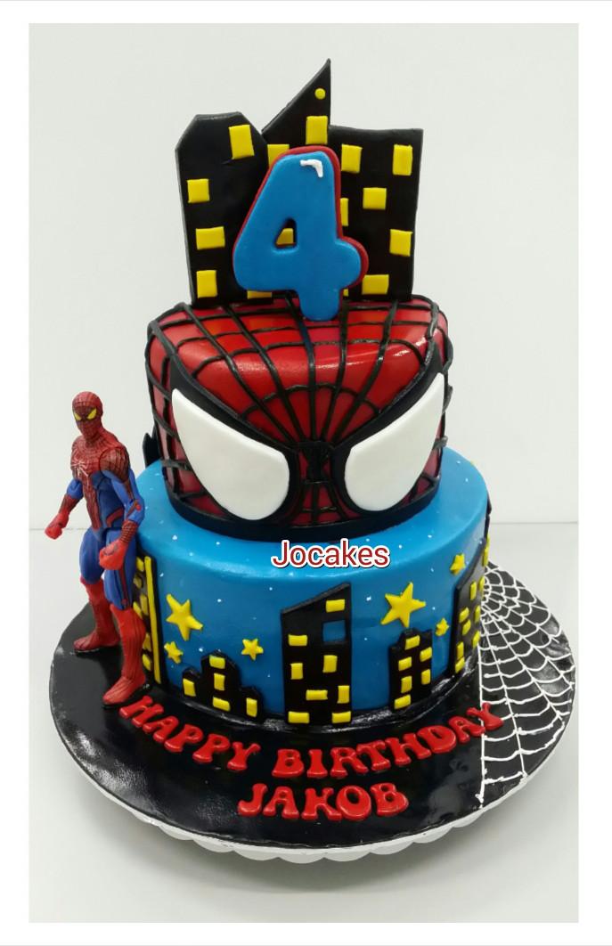 Spiderman Birthday Cake  Spiderman cake
