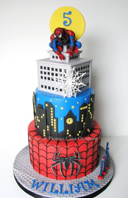 Spiderman Birthday Cake  Spiderman Cake CakeCentral