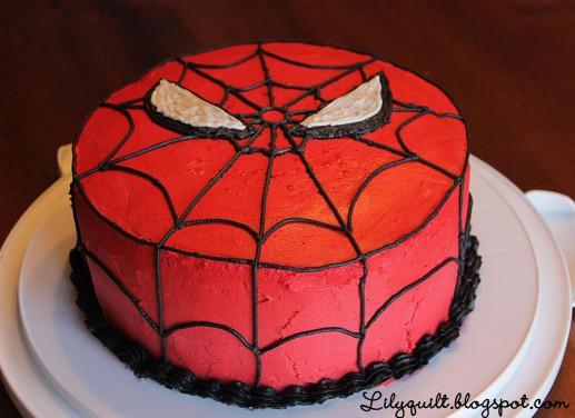 Spiderman Birthday Cake  Lilyquilt Spider Man Birthday Cake Tutorial