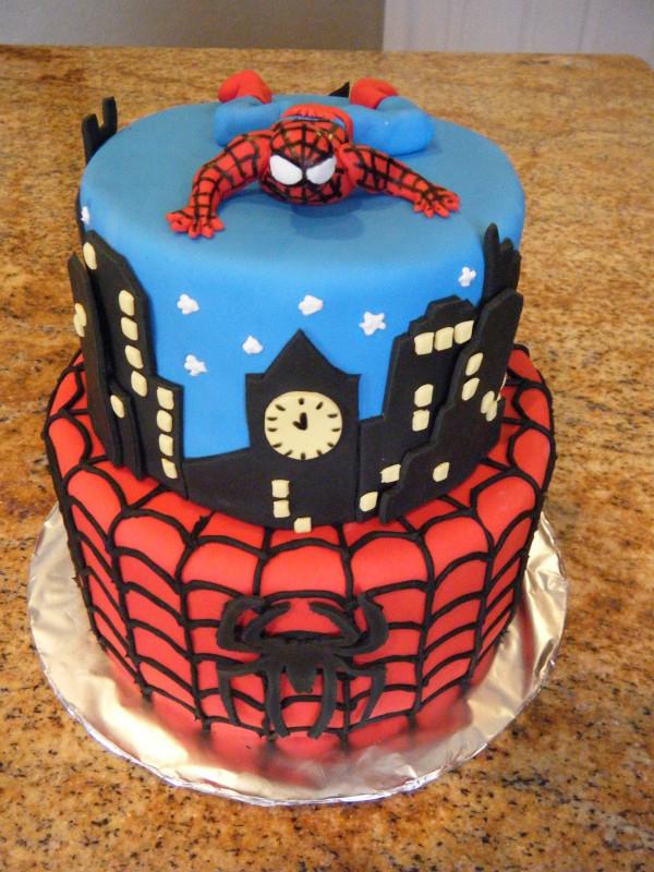Spiderman Birthday Cake  Cassy s Cakes Spiderman Cake