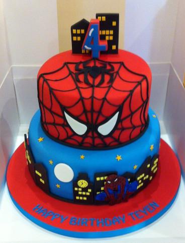 Spiderman Birthday Cake  Spider man cake party Pinterest