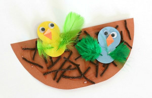 Spring Craft For Kids  Spring Crafts for Kids Nest and Baby Bird Craft Buggy