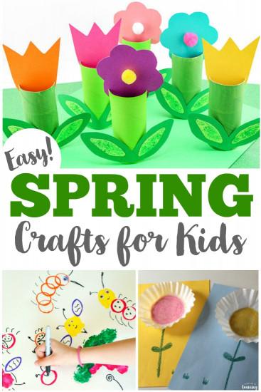 Spring Craft For Kids  75 Easy Spring Crafts for Kids