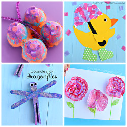 Spring Craft For Kids  Beautiful Spring Crafts for Kids to Create Crafty Morning