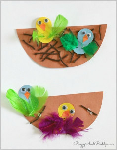 Spring Craft For Kids  Spring Crafts for Kids Nest and Bird Craft Buggy and Buddy