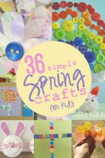 Spring Craft For Kids  36 Simple Spring Crafts for Kids hands on as we grow