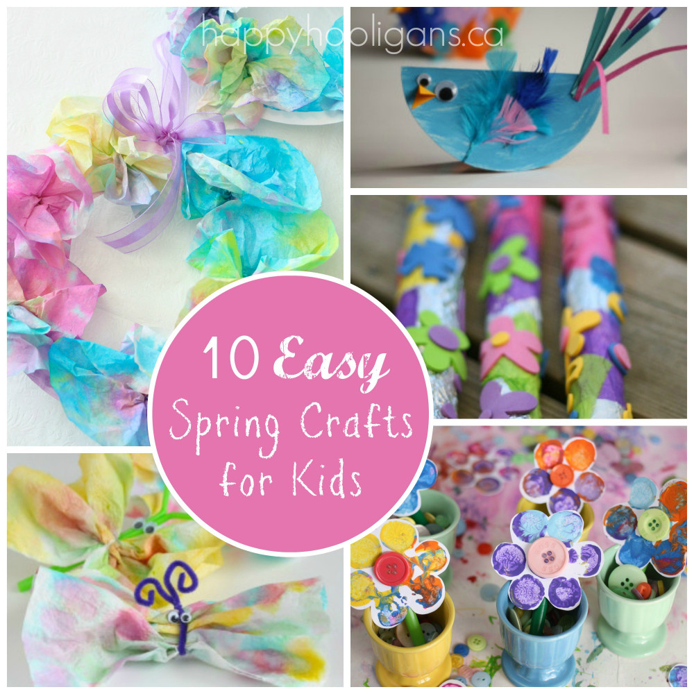 Spring Craft For Kids  Spring Break Kids Activities Round Up The Idea Room