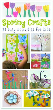 Spring Craft For Kids  Spring Crafts For Kids No Time For Flash Cards